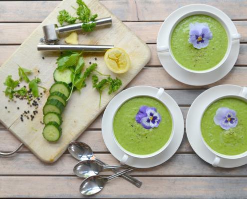 body flow temse gezond tussendoortje komkommer soep
