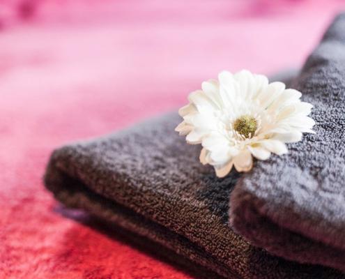 body flow temse handdoek bloem