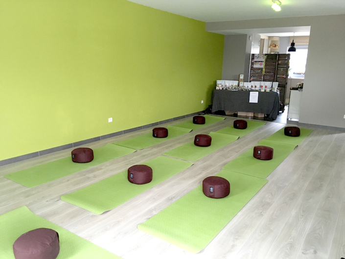 body flow temse yoga matten ruimte